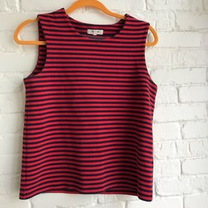 Madewell Striped Sweater Vest Medium Blue Red
